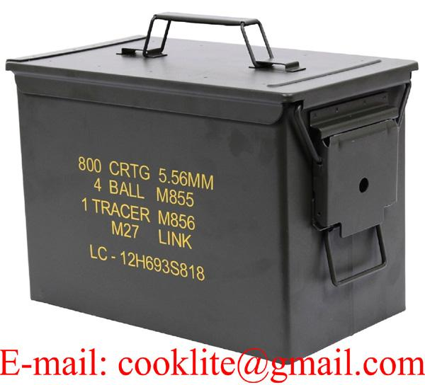 Metal Ammo Can Military Fat 50 Cal PA108 Heavy Gauge Steel Ammo Storage Box