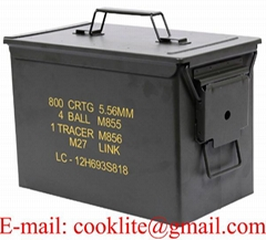 Metal Ammo Can Military Fat 50 Cal PA108 Ammo Storage Box