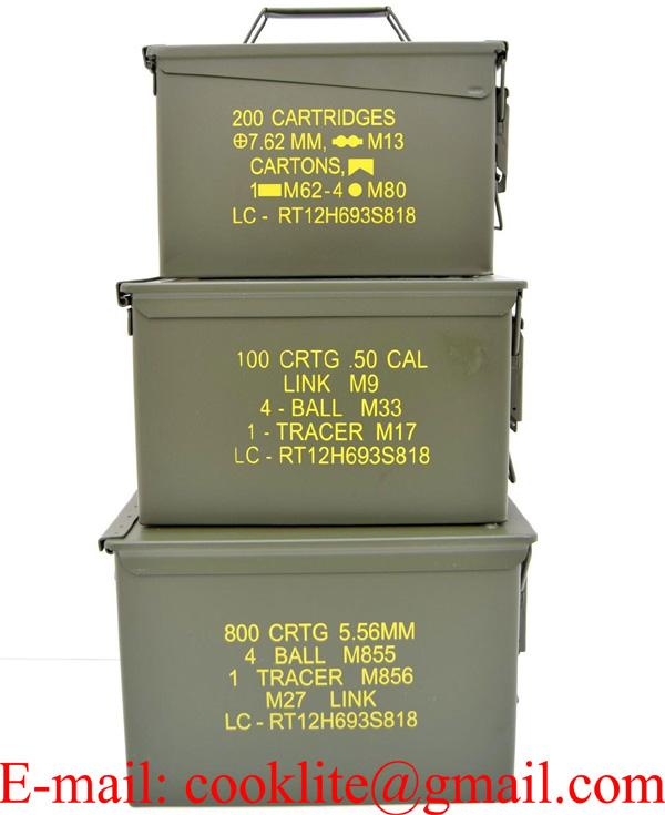 Military Sealed Lid Steel Ammo Can 3-Can Combo Pack