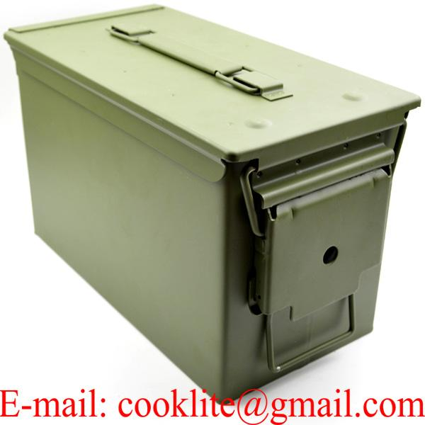 Ammo Can US Army Military M2A1 50 Cal Ammunition Metal Storage 5.56MM Stash box