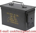 Metal Ammo Can M2A1 50 Cal Military Steel Ammunition Storage Box