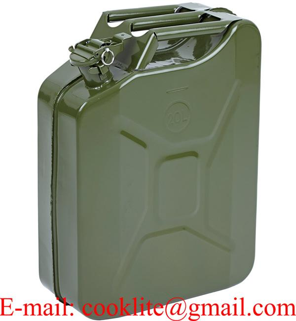 Jerry Can 5 Gal NATO Gasoline Fuel Can Metal Gas Tank Emergency Backup