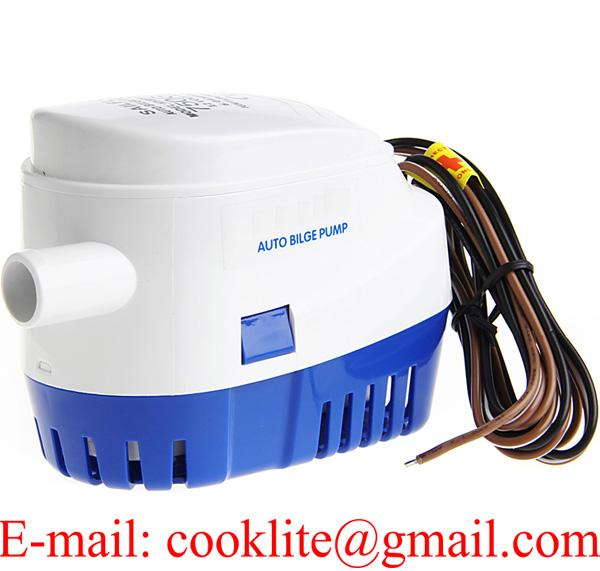 DC 12V 600 GPH Automatic Water Bilge Pump For Boat Submersible Auto Pump With Float Switch Marine / Bait Tank / Fish