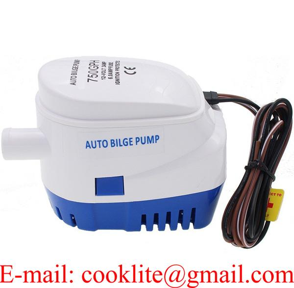 DC 12V 750 GPH Automatic Water Bilge Pump For Boat Submersible Auto Pump With Float Switch Marine / Bait Tank / Fish