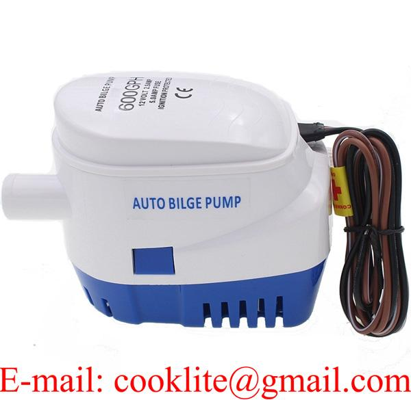 12V Boat Marine Automatic Submersible Auto Bilge Water Pump 600GPH
