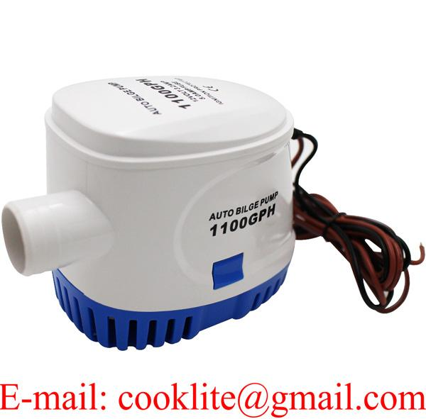 Automatic Bilge Pump 1100 GPH Marine Boat 12V DC 1-1/8″ Submersible