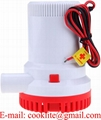12V 1500GPH Bilge Pump Marine Boat Submersible Water Pump Non Automatic