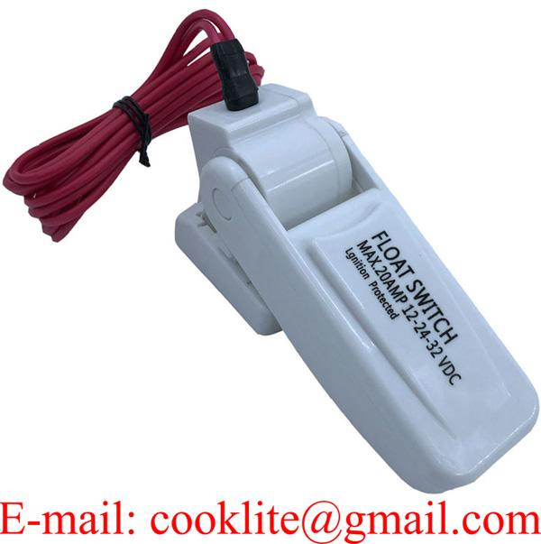 Water Pump Switch Cable Float Bilge Liquid Auto Toggle Switches DC 12 Electric Automation Level Controller ABS Material