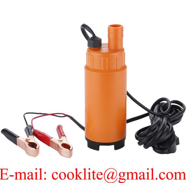 12V Plastic Submersible Transfer Pump Vessel Fuel Diesel Water Oil Pump