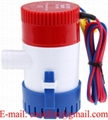 "Manual Bilge Water Pump 350 GPH 3/4"" Port 12V 24V Submersible Boat Marine"