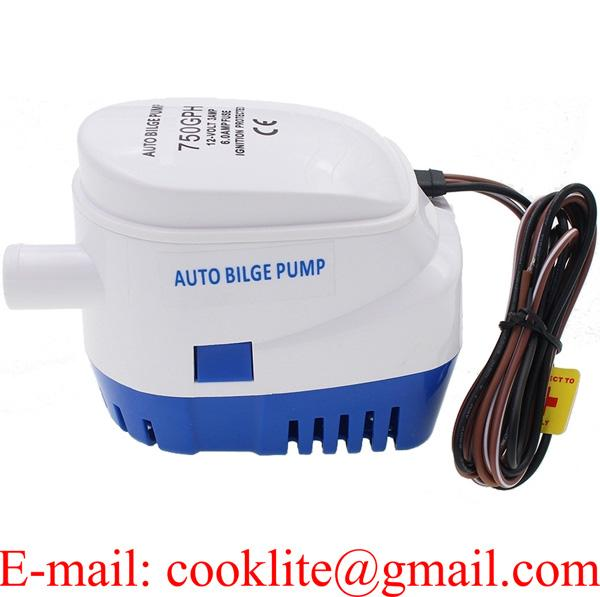 12V 24V 750GPH Boat Marine Automatic Submersible Bilge Water Pump With Float Switch