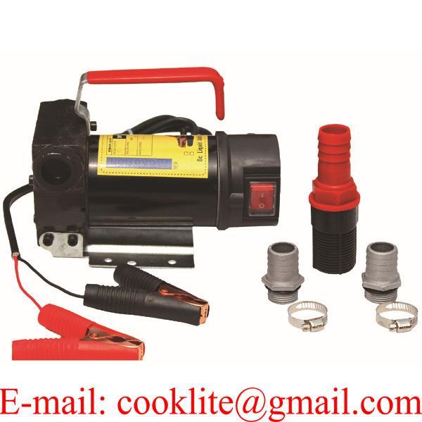 12V 24V Diesel Oil Fuel Transfer Extractor Pump Motor Self Priming 30L/Min
