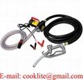 Electric 12V 24V DC Fuel Transfer Pump Diesel Kerosene Oil Commercial Manual Portable
