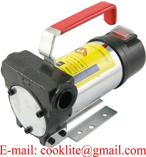 Portable 45L/M 12V 24V DC Oil Diesel Fuel Transfer Pump Self Priming Kerosene Bio-diesel
