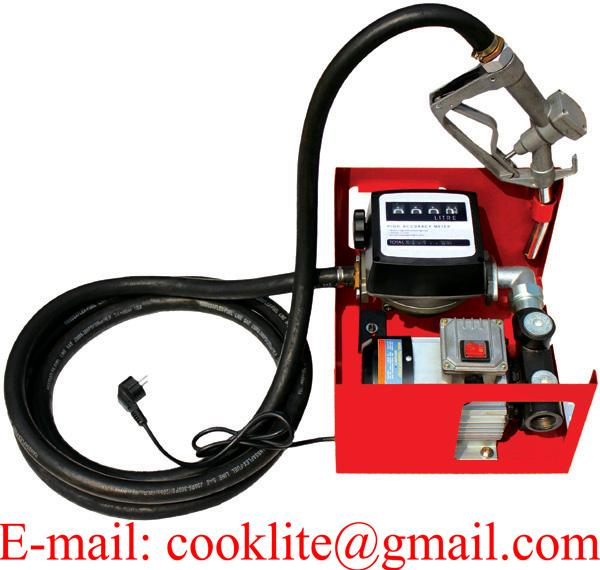 Portable Commercial Fuel Diesel Oil Transfer Pump Station 110V 220V 60L/Min