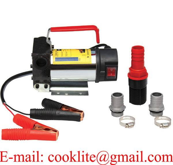 Portable 12V 24V 45L/Min Electric Diesel Oil/water/Fuel Transfer Extractor Pump Motor