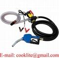 Electric Fuel Transfer Pump Kit Diesel Kerosene Oil Commercial Auto Portable 12V 24V DC