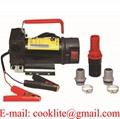 12V 24V Portable Car Motorbike Fuel Diesel Transfer Pump Motor Mini Oil Dispenser Self-priming 150W 30L/Min