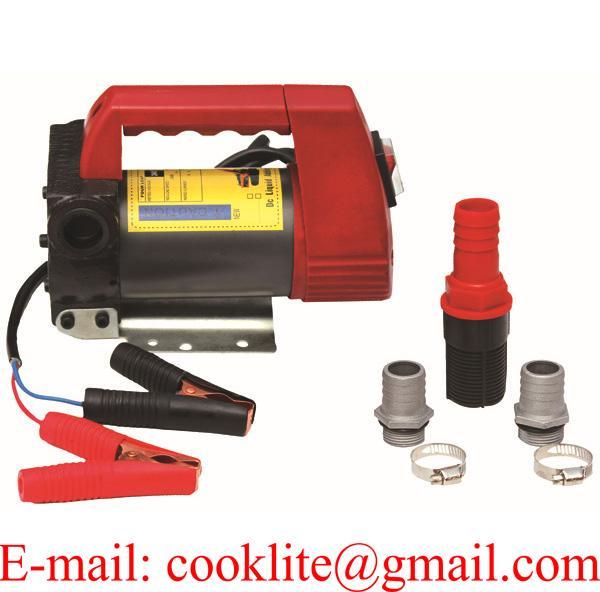 12/24 Volt Portable Fuel Oil Transfer Pump Motor Diesel Kerosene Biodiesel 175W 45L/Min Dispenser