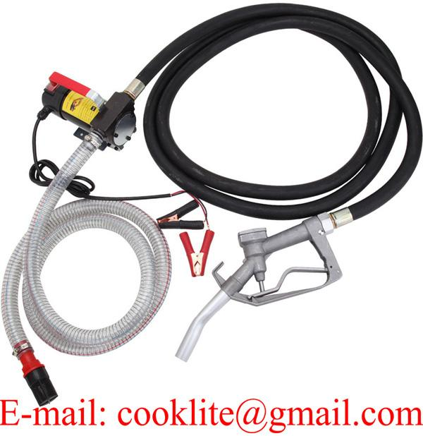 12V 24V Bio Diesel Kerosene Fuel Transfer Direct Current Pump Kit w/Nozzle & Hose