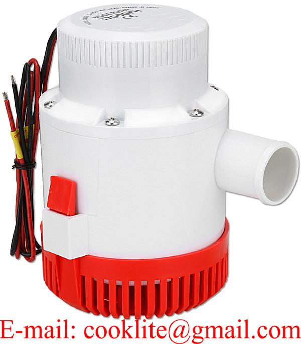 3000GPH Non Automatic Submersible Bilge Pump for Marine Boat RV Campers 12V 24V