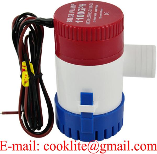 1100 GPH 12V Non Automatic Boat Marine Plumbing Electric Bilge Pump