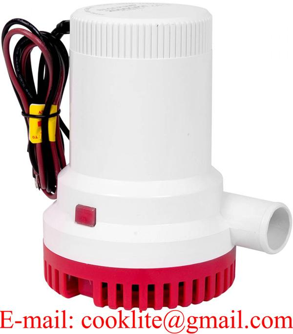 1500 GPH Non Automatic Submersible Bilge Water Pump 12V 24V Marine Boat Portable