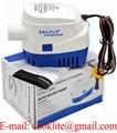 1100 GPH Portable Automatic Submersible Bilge Pump 12V 24V