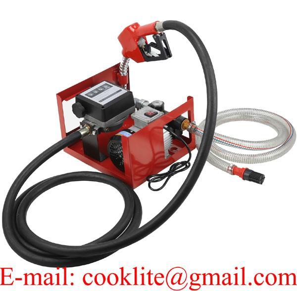 Electric Diesel Fuel Transfer Pump Counter Automatic Fuel Pump Fuel Nozzle Fuel/Oil Biodiesel Pump Dispensing Kit 550W 60L