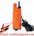 12V Mini Portable Plastic Diesel Fuel Water Oil Submersible Transfer Pump with Removable Filter