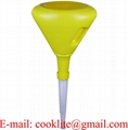 3 Qt Yellow Polyethylene Plastic Spill Proof Drum Funnel