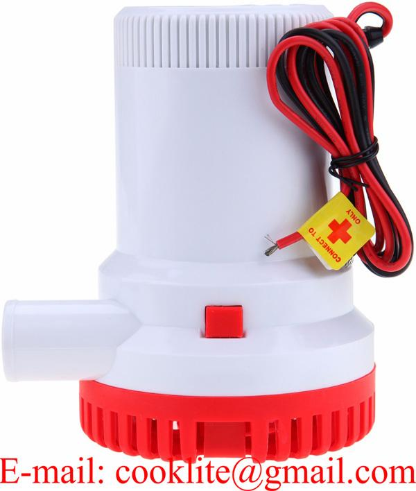Electric Submersible Bilge Water Pump 1500 GPH 12V 24V Boat Marine Camping