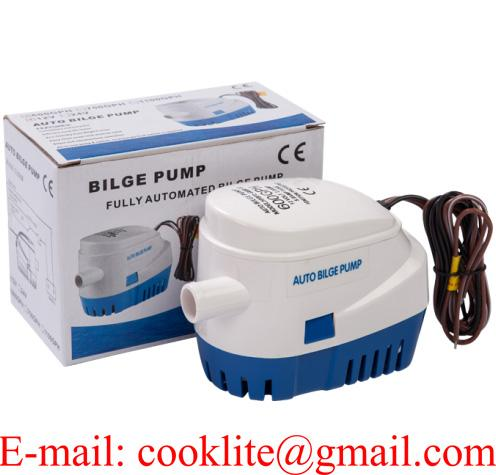 Submersible Marine Boat Automatic Bilge Pump with Auto Switch 600 GPH 12V 24V