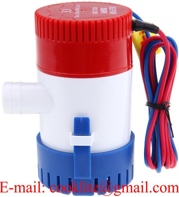 350 GPH Mini Marine Water Bilge Pump Submersible Yacht Boat 12V 24V