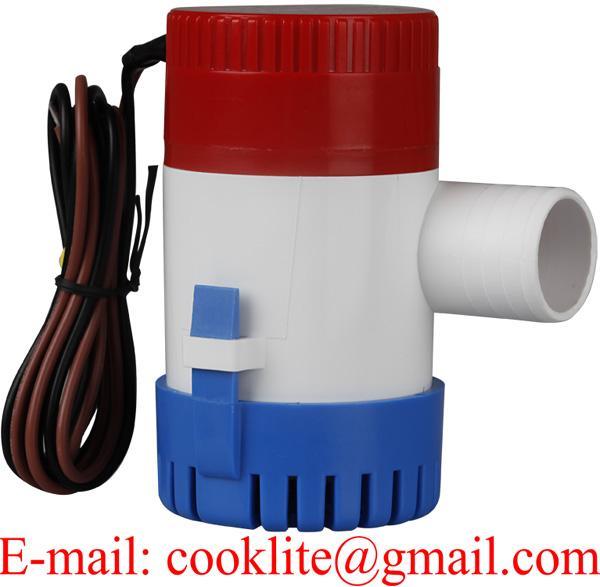 12V 24V DC Submersible Bilge Pump 1100 GPH Electric Marine Boat Water Pump