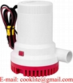 Submersible Marine Boat Electric Bilge Water Pump 12V 24V 1500GPH Portable Non Automatic