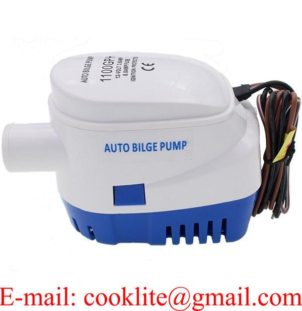 12V 24V Boat Marine Automatic Submersible Auto Bilge Water Pump 1100GPH