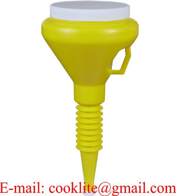 1.5 Quart Double Cap Funnel - Yellow