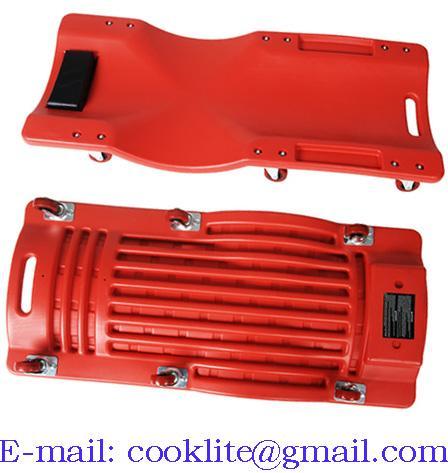 KFZ Rollbrett PVC Montagerollbrett Werkstatt Werkstattliege Montageliege rot