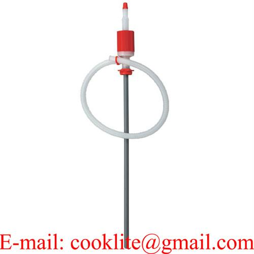 Hand operated chemical siphon drum pump