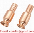 "Copper Nozzle/Fittings For Jiggle Siphon Hose Anti-static Shaker Syphon Pump - 1/2"" 3/4"" 1"""