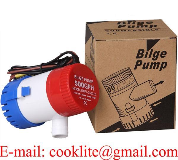 Bilge Pump 500 GPH DC 12V 24V Non-automatic