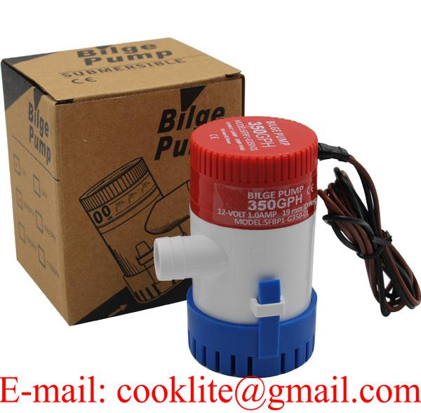 12V 24V 350GPH Submersible Bilge Pump