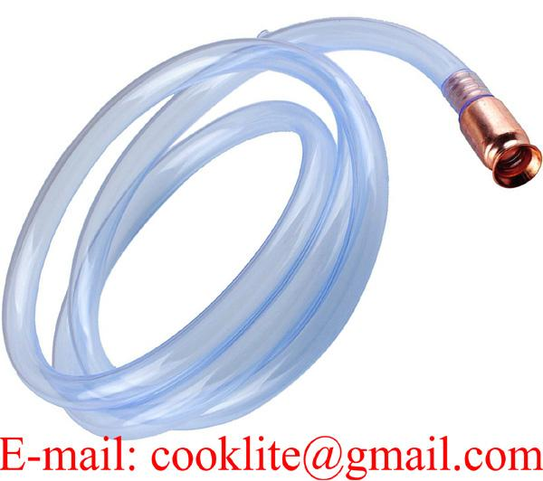 Gas Siphon Pump Gasoline/Fuel/Water Shaker Siphon Safety Self Priming Hose Copper Tip