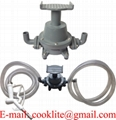 Transfer Refilling Gasoline Diesel Fuel Foot Pump Kit & Manual Nozzle w/ 6  Hose