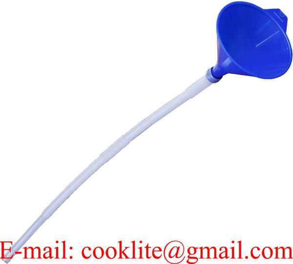 Cool Filling Plastic Funnel Soft Pipe Pour Oil Petrol Diesel Kerosene Vehicle