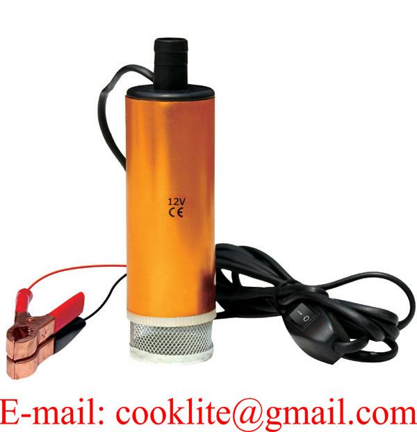 12V Mini Portable Stainless Steel Diesel Water Oil Submersible Pump with Removable Filter