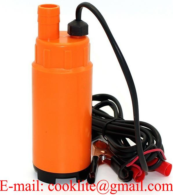 DC 12V Plastic Submersible Diesel Fuel Water Oil Pump Car Camping