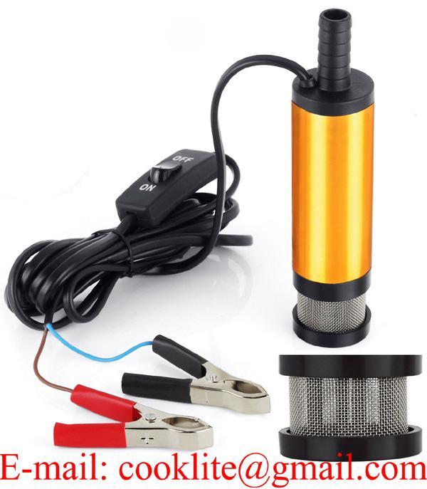 20 L/Min Diesel Fuel Water Oil Submersible Transfer Pump 38mm Car Auto 12V 24V