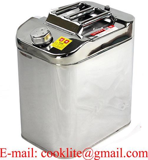 Jerry Can Stainless Steel 30 L Litre Fuel Diesel Gasoline Petrol Oil Kerosene Water